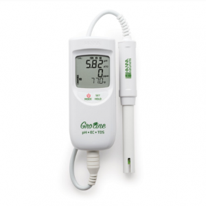GroLine Meter - Waterproof Portable pH/EC/TDS