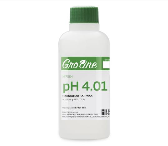 GroLine pH 4.01 Calibration Buffer (500mL)