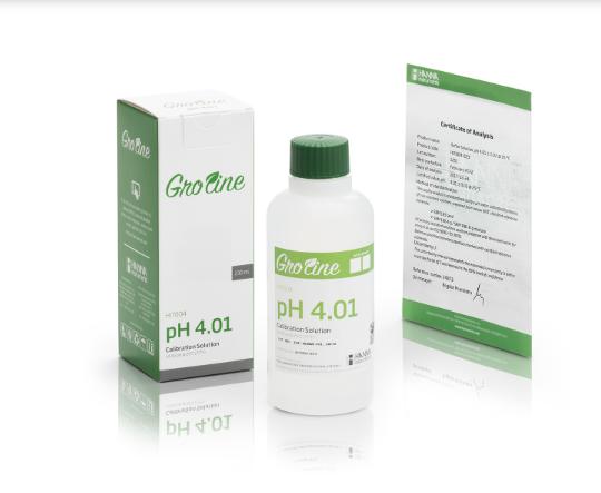 GroLine pH 4.01 Calibration Buffer (230mL)