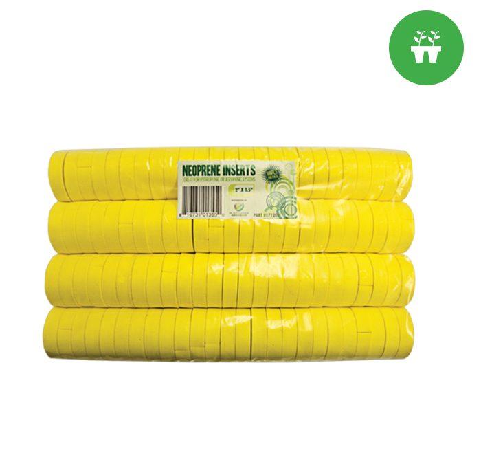 """2"""" Neoprene Inserts (100-pack) Yellow"""