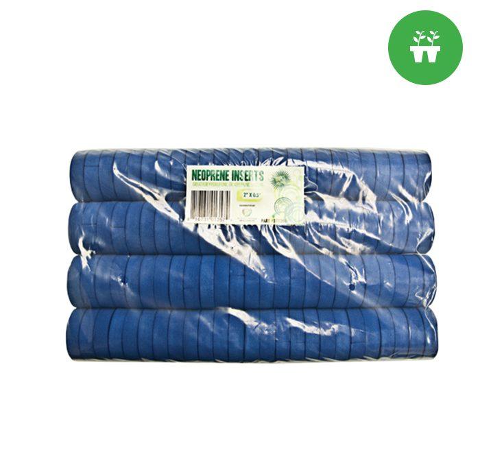 """2"""" Neoprene Inserts (100-pack) Blue"""