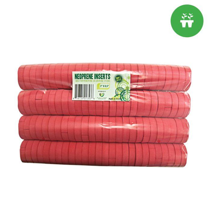 "2"" Neoprene Inserts (100-pack) Red"
