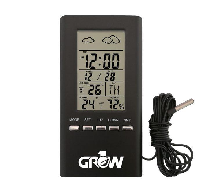 GROW1 Wireless Indoor & Outdoor Temperature And Humidity Hygrometer w/ Probe