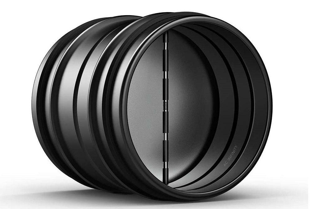 Backdraft Damper 6 – Ducting Insert 6″ Black Galvanized Steel
