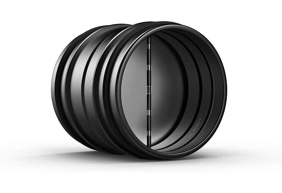 Backdraft Damper 4 – Ducting Insert 4″ Black Galvanized Steel