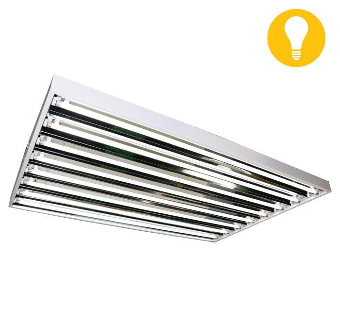 Lightech T5 4′ 8 Grow Bulb Fixture 120//240/277V