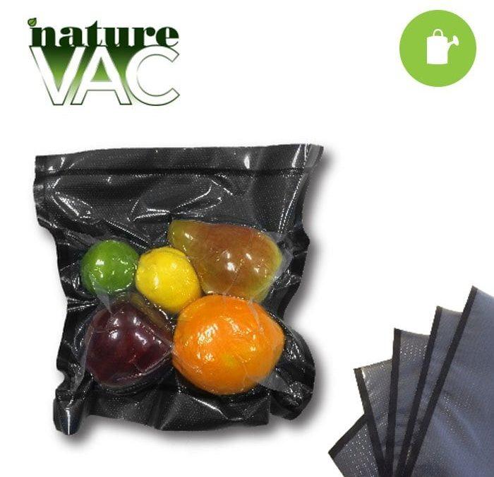 """NatureVAC 15""""x20"""" Precut Vacuum Seal Bags Black/Clear (50-pack)"""