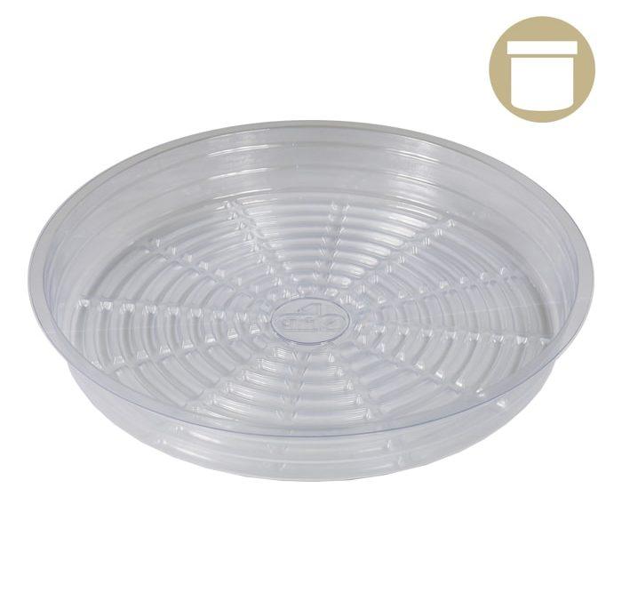 "4"" Clear Plastic Pot Saucer"