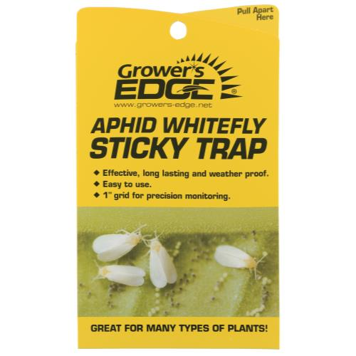 Grower's Edge Aphid Whitefly Sticky Trap 5/Pack (80/Cs)