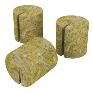 Grodan MacroPlug Round w/ Slit (50/Bag) (35 Bags/Cs)