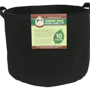 Gro Pro Premium Round Fabric Pot w/ Handles 10 Gallon - Black (70/Cs)