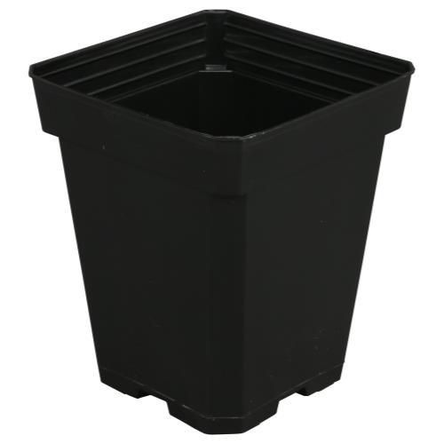 Gro Pro Black Plastic Pot 5 in x 5 in x 6.5 in
