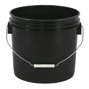 Gro Pro Black Plastic Bucket 3.5 Gallon