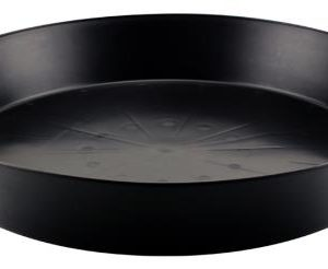 Black Premium Plastic Saucer 20 in (5/Cs)