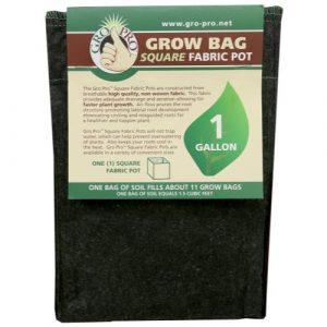 Gro Pro Square Fabric Pot 1 Gallon (100/Cs)