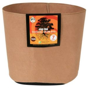 Gro Pro Essential Round Fabric Pot - Tan 7 Gallon (84/Cs)