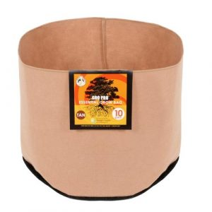 Gro Pro Essential Round Fabric Pot - Tan 10 Gallon (60/Cs)