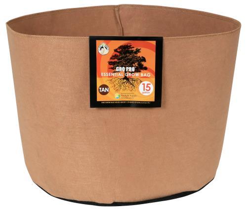 Gro Pro Essential Round Fabric Pot - Tan 15 Gallon (48/Cs)