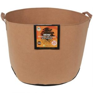 Gro Pro Essential Round Fabric Pot w/ Handles 20 Gallon - Tan (42/Cs)