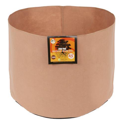 Gro Pro Essential Round Fabric Pot - Tan 45 Gallon (25/Cs)