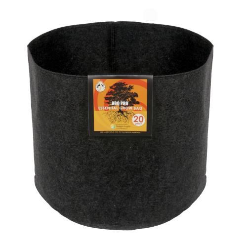 Gro Pro Essential Round Fabric Pot - Black 20 Gallon (42/Cs)