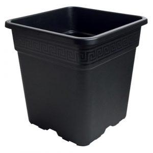 Gro Pro Black Square Pot 8 Gallon