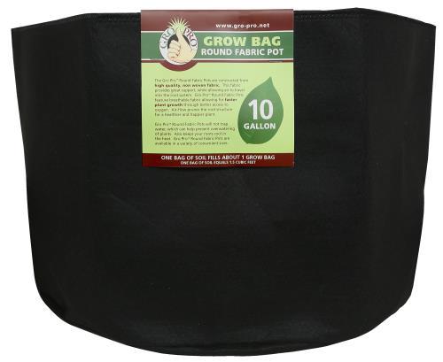 Gro Pro Premium Round Fabric Pot 10 Gallon (70/Cs)