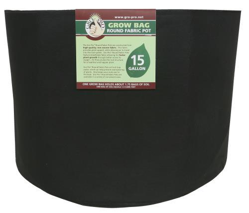 Gro Pro Premium Round Fabric Pot 15 Gallon (48/Cs)