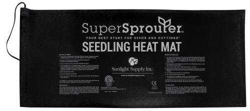 Super Sprouter 4 Tray Seedling Heat Mat 21 in x 48 in (6/Cs)