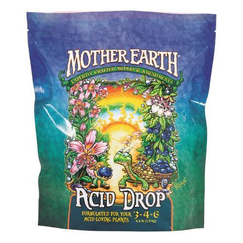 Mother Earth Acid Drop Formulated For Your Acid Loving Plants 3-4-6 4.4LB/6