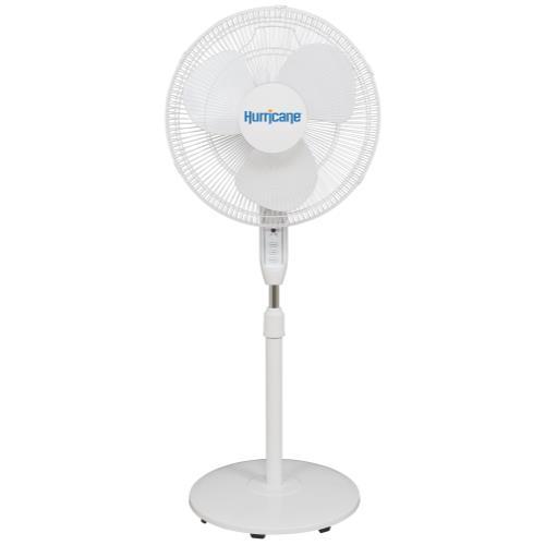 Hurricane Supreme Oscillating Stand Fan w/ Remote - 16 in - White