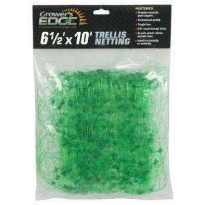 Grower's Edge Green Trellis Netting 6.5 ft x 10 ft (24/Cs)