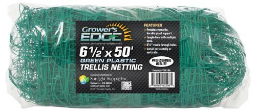 Grower's Edge Green Trellis Netting 6.5 ft x 50 ft (15/Cs)