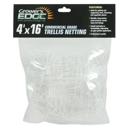 Grower's Edge Commercial Grade Trellis Netting 4 ft x 16 ft (20/Cs)