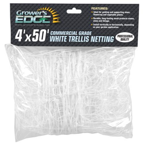 Grower's Edge Commercial Grade Trellis Netting 4 ft x 50 ft (10/Cs)