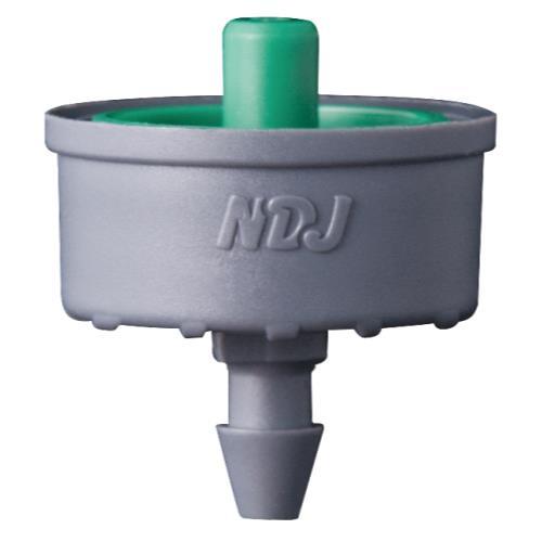 Jain Irrigation Click-Tif Pressure Compensated Dripper w/ Check Valve 2.0 GPH Green (1=100/Bag)