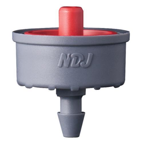 Jain Irrigation Click-Tif Pressure Compensated Dripper w/ Check Valve 3.0 GPH Red (1=100/Bag)